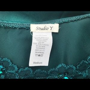 Maurices Tops - Beaded teal tank top